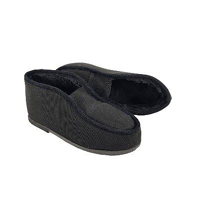 Sapato Pantufa Tecido Com Pelo Adulto Rubra 930 Preto
