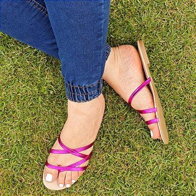 Sandália Rasteira Dom Amazona Numeração Especial Pink 1410791