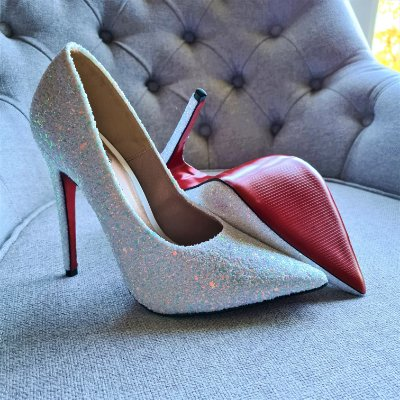 Sapato Scarpin Feminino Salto Glitter Furtacor Noiva 1720475