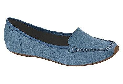 Sapatilha Feminino Moleca Conforto Camurça Azul 5252.207
