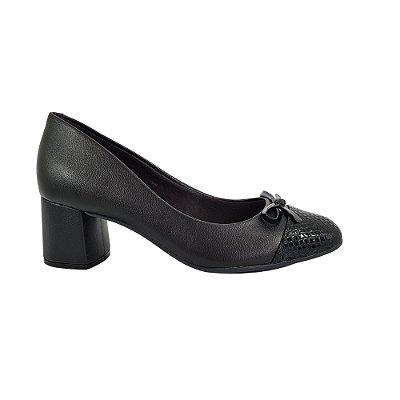 Sapato Feminino Salto Grosso Verniz Beira Rio Preto 4270.102