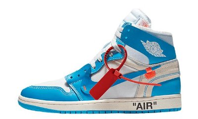 "NIKE Air Jordan 1 Retro High ""Off-White - UNC"""