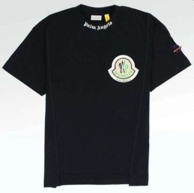 Camiseta Moncler Palm Angels black