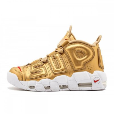 Gold Supreme x NIKE Air More Uptempo