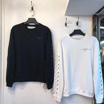 Camiseta manga longa OFF- WHITE