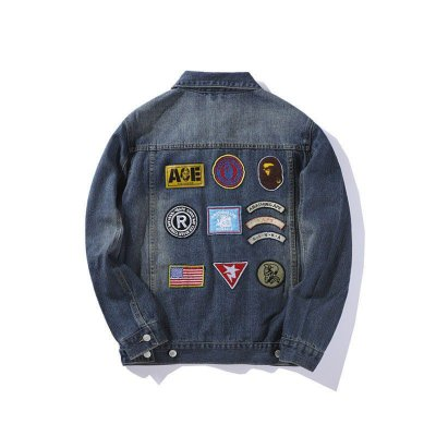 Jaqueta Jeans BAPE Patches
