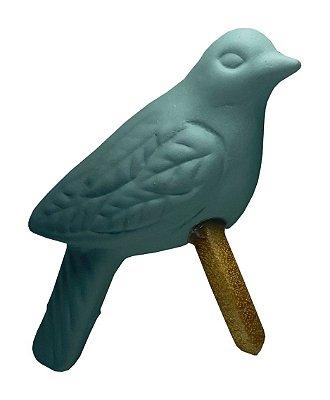 Porta Guardanapo Pássaro Cerâmica Verde Claro