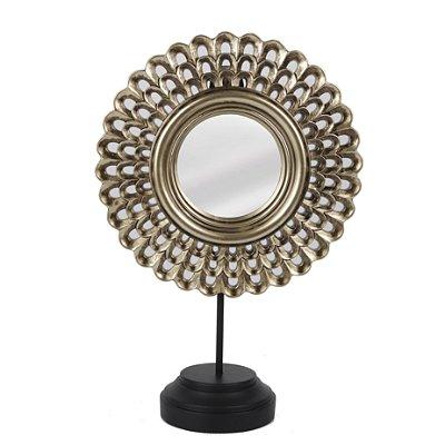 Escultura Flor com Espelho