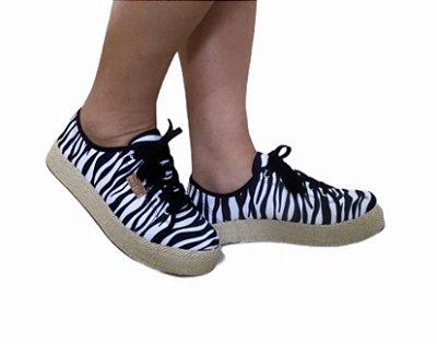 Tênis Animal Print Zebra - Nº 36
