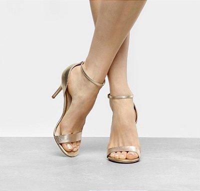 Sandália Salto FIno - Dourado