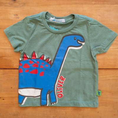 Camiseta Silk Dinossauro Oliver Tamanho 1