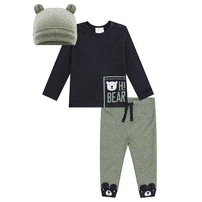 Conjunto Camiseta, Calça e Touca Luc Boo Tamanho 1