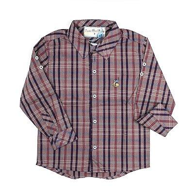 Camisa Social Infantil Masculina Dame Dos Xadrez Lagun