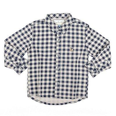 Camisa Social Infantil Masculina Dame Dos Xadrez Linhão