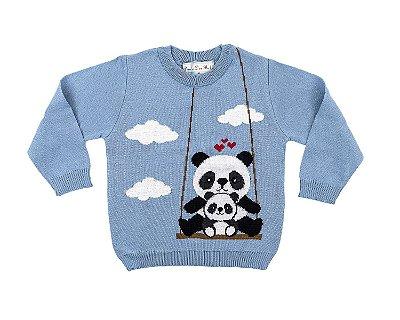 Blusa Infantil Masculina Dame Dos Panda Balanço Tamanhos 1 e 4