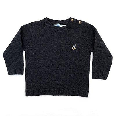 Blusa Infantil Masculina Lisa Britania Dame Dos Tamanhos 1 e 2