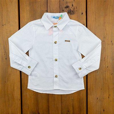 Camisa Básica Mini Colors Oliver Branca