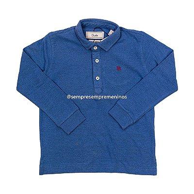 Camisa Polo Mescla Marinho Dudes Tamanhos 4 e 8