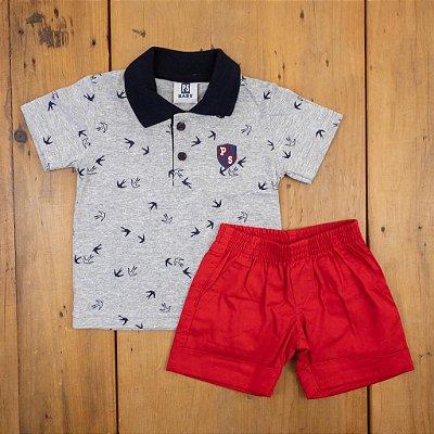 Conjunto Baby Camiseta e Bermuda PS Tamanho G