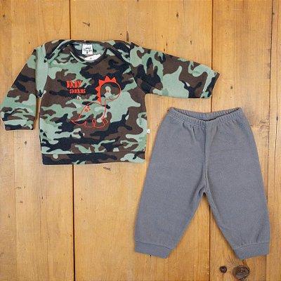 Conjunto Blusa e Calça Dino Ami de Lit Tamanhos M e G