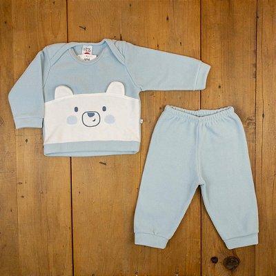 Conjunto Blusa e Calça Urso Polar Ami de Lit Tamanho M