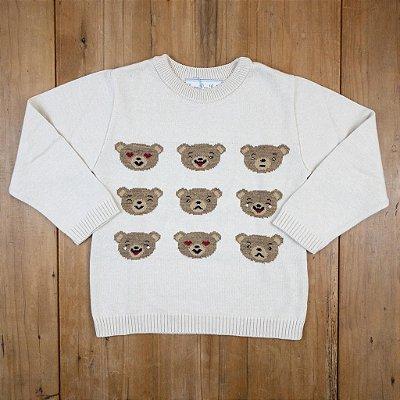Blusa Infantil Ursos Carinhas Dame Dos Tamanho 4