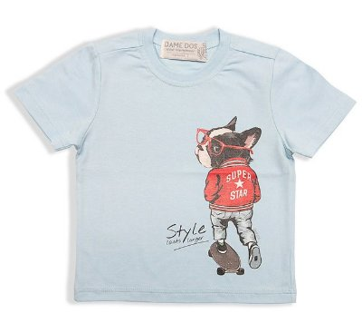 Camiseta Bulldog Super Dame Dos Tamanhos 2/3/4