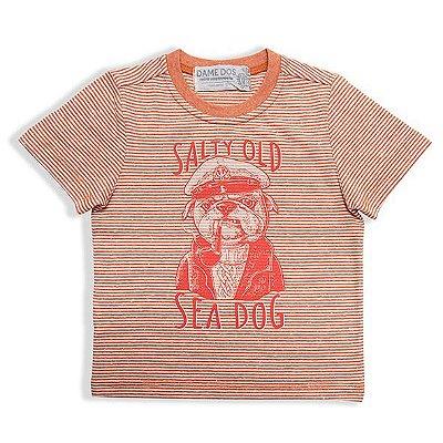 Camiseta Listrada Daily Sea Dame Dos Tamanhos 1 e 2