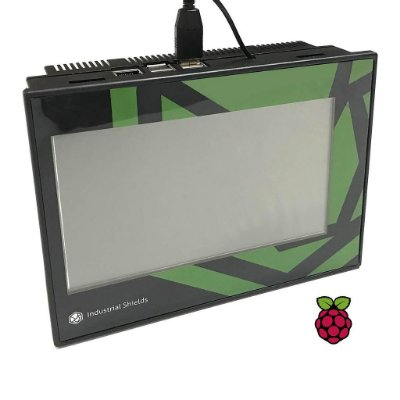 "TouchBerry PI 7""-10 Configurable I/Os-RS485-RS232-UPS"