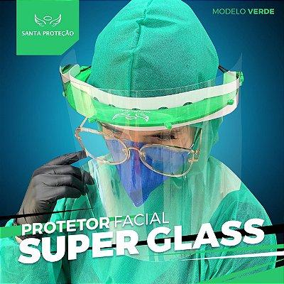 Protetor Facial SuperGlass Convencional - 100% Transparente - Cor Verde