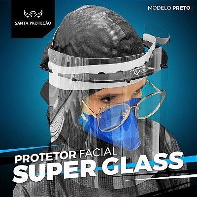 Protetor Facial SuperGlass Convencional - 100% Transparente - Cor Preto