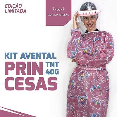 KIT Avental Princesas em Tnt 40g - 2 Unidades
