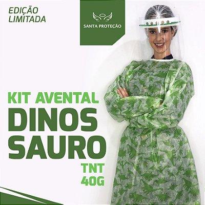 KIT Avental Dinossauro em Tnt 40g - 2 Unidades