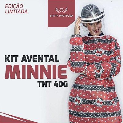 KIT Avental Minnie em Tnt 40g - 2 Unidades