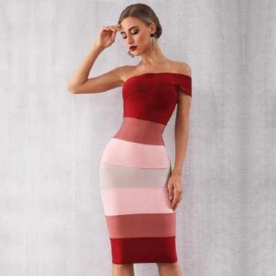 Vestido de Bandagem Zamar Midi Vermelho