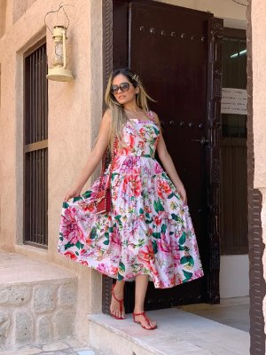Vestido Zamar Rossana Rosa Midi