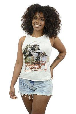 Blusa Feminina Recortada Produto do Morro  Bezerra da Silva D SAMBA