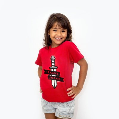 Blusa Infantil Espada Salve Jorge D SAMBA