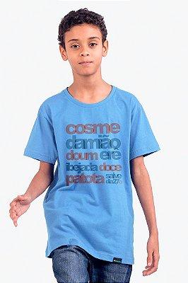 Blusa Cosme e Damião - Azul