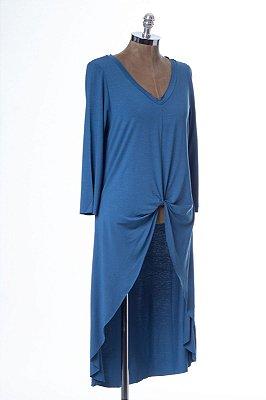 Blusa Mullet Malha Nó Basic Blue Jeans