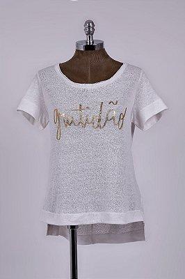T-Shirt Podrinha Gratidão Off White