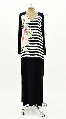 Vestido Longo PB Floral Básico