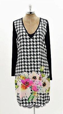 Vestido Curto PB Floral Básico