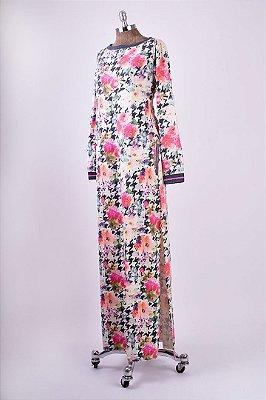 Vestido Longo Moleton PB Floral