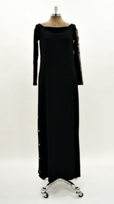 Vestido Longo Canelado Robô