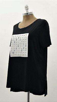 T-Shirt Patch Quadrado Cristal