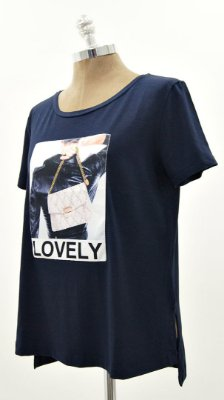 T-Shirt Patch Bolsa Loved Marinho
