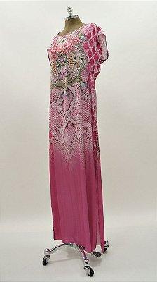 Vestido Longo Kaftan Degradê Básico - Coleção Essential Pink
