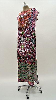 Vestido Longo Kaftan Gaudi Color