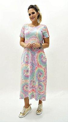 Vestido Amplo Tie Dye Candy Melância